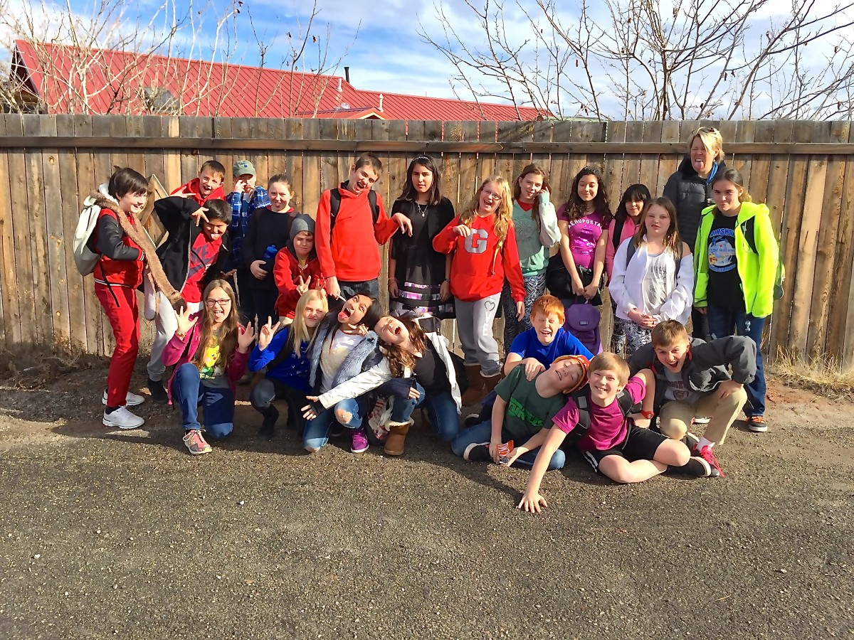 Rebecca Scheu's 6th grade class at HMK does Word of the Day