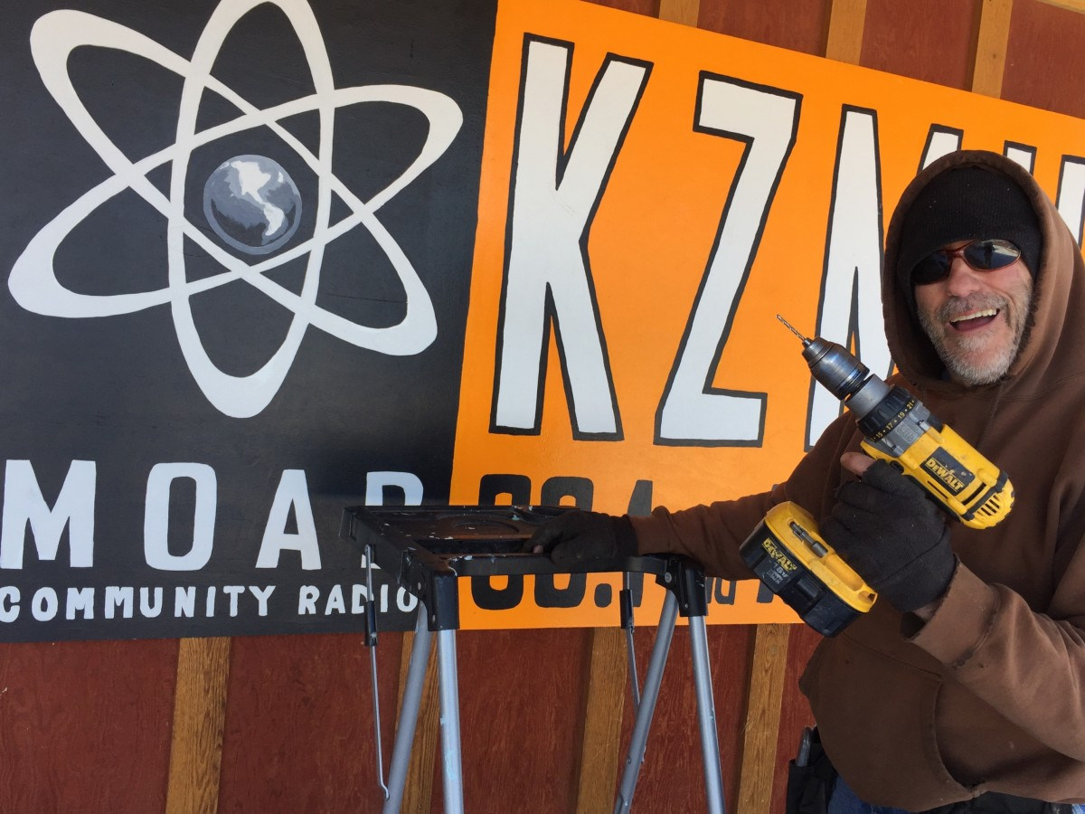 KZMU has a new sign!