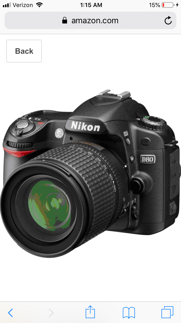 Nikon d80 with black case
