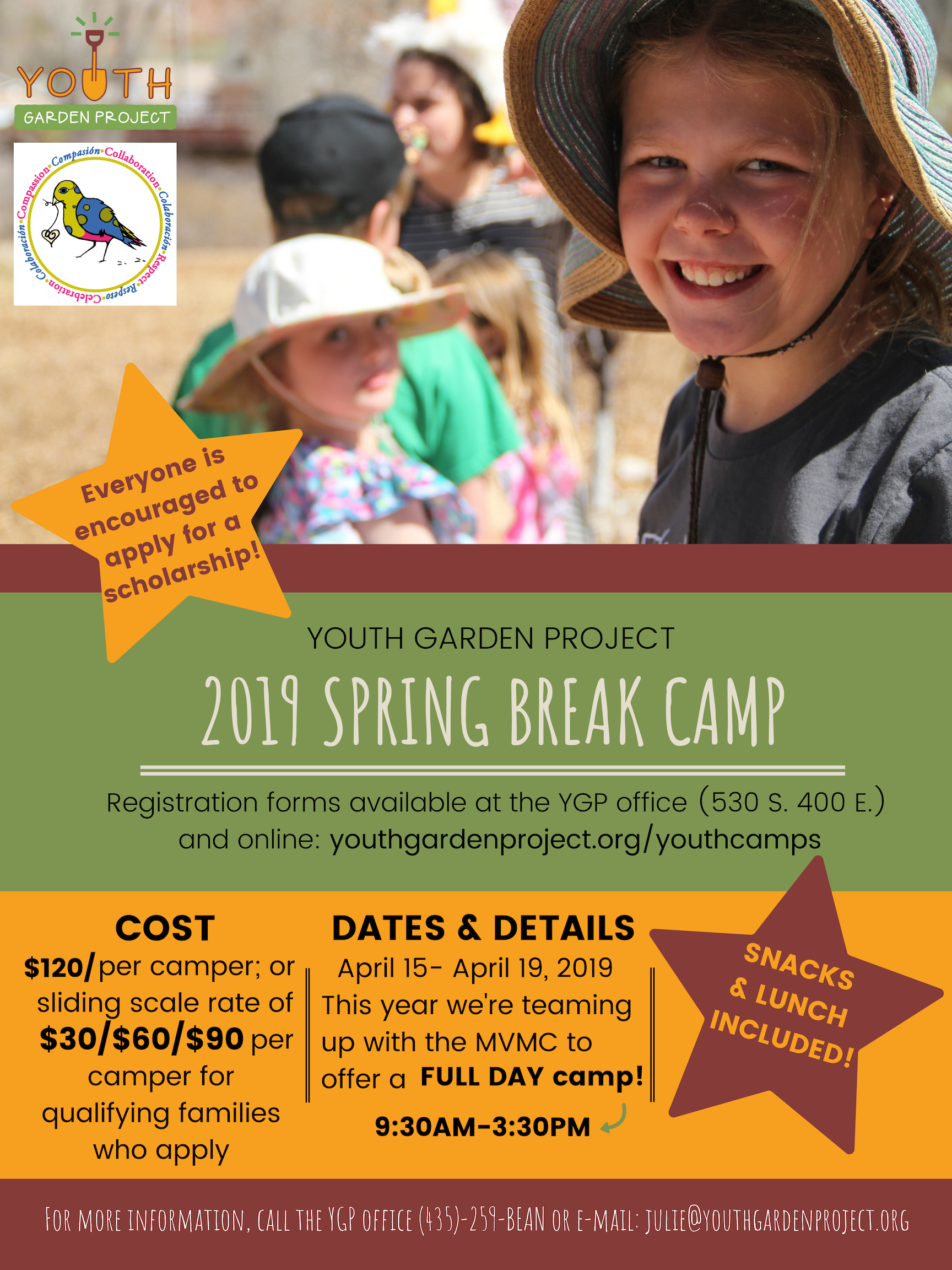 2019 Spring Break Camp @ Youth Garden Project!