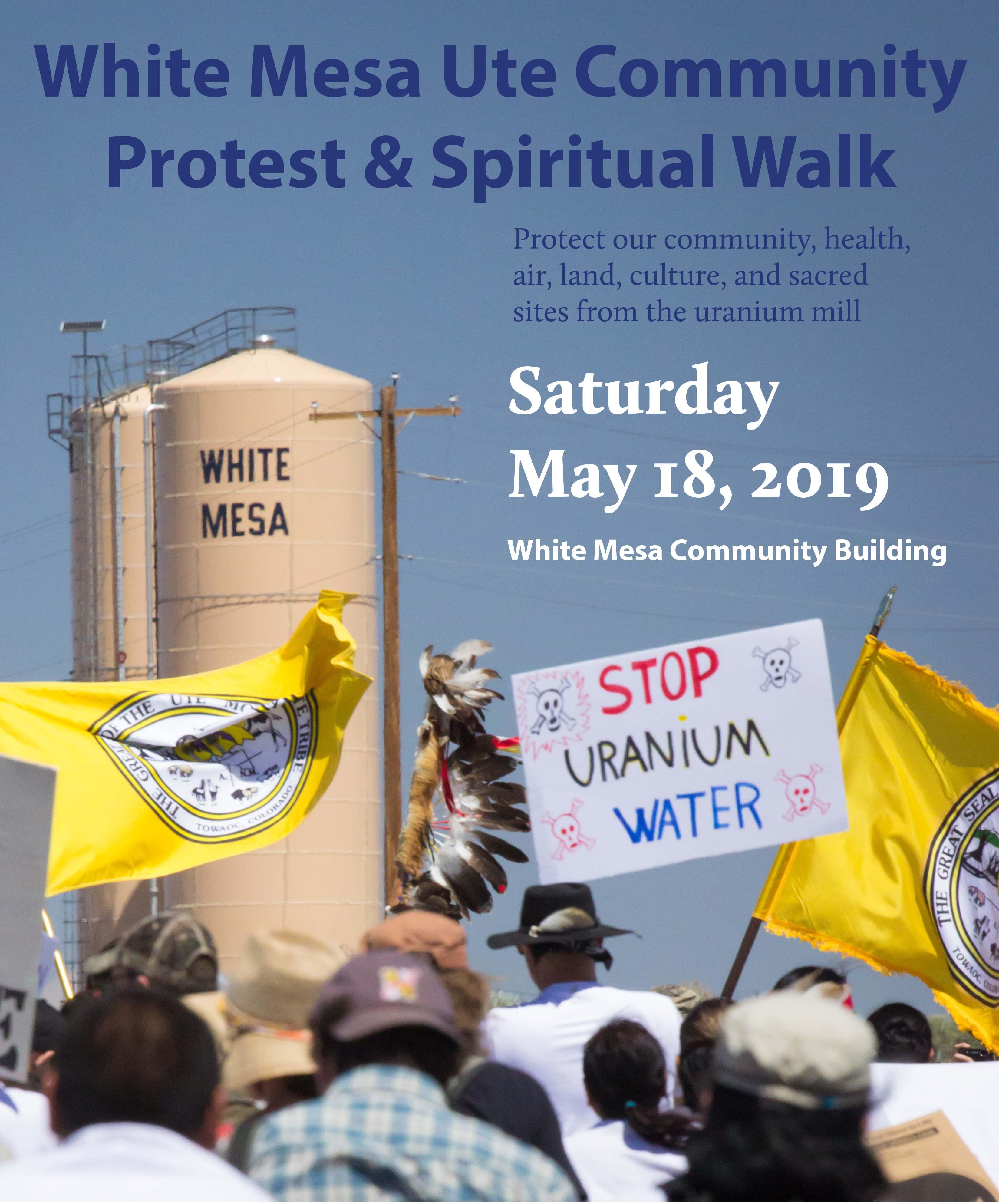 Annual White Mesa Ute Spiritual Walk and Protest against Energy Fuels' Uranium Mill.