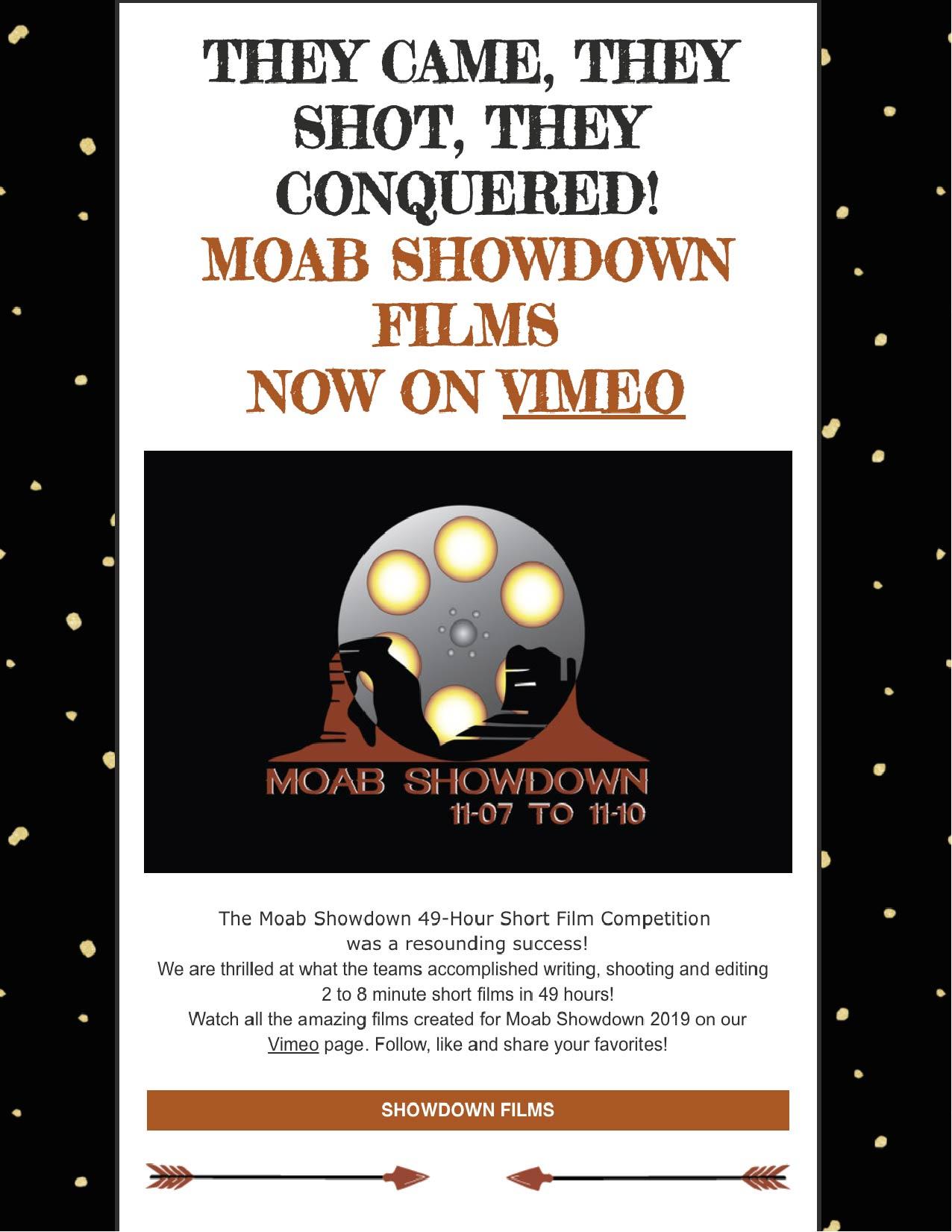 Moab Showdown films now on Vimeo
