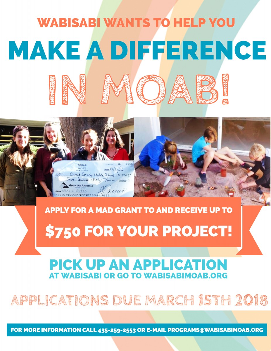 WabiSabi wants YOU to Make a Difference in Moab!