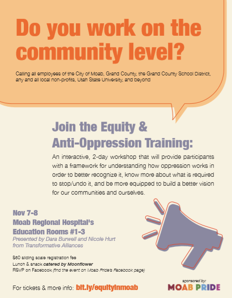 Equity & Anti-Oppression: An Introductory Community Training