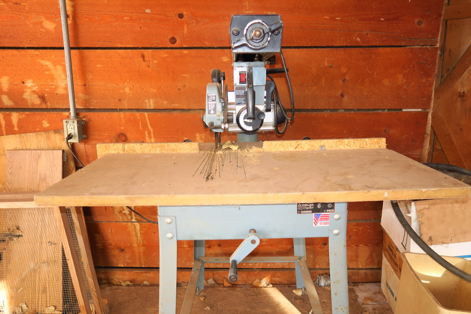 Delta 10 inch radial arm saw & table